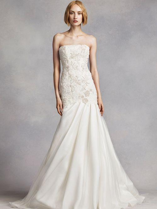 White by Vera Wang Style VW351275, David's Bridal