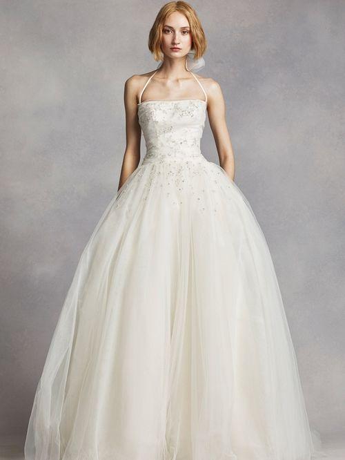 White by Vera Wang Style VW351277, David's Bridal