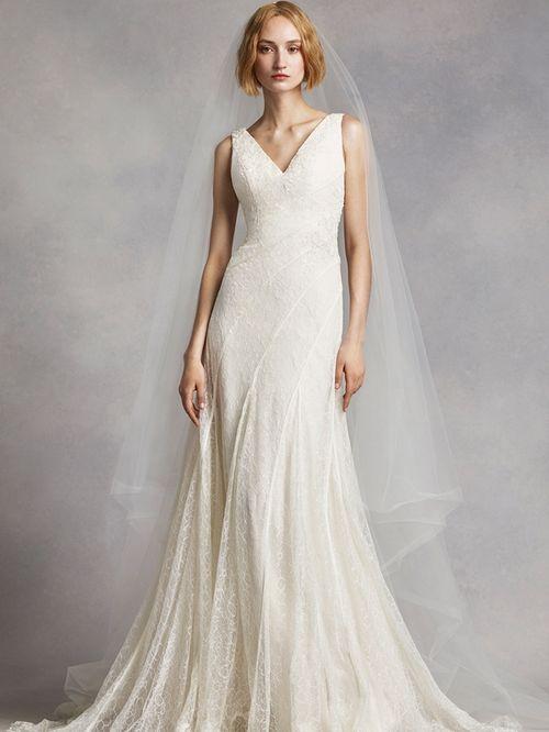White by Vera Wang Style VW351283, David's Bridal