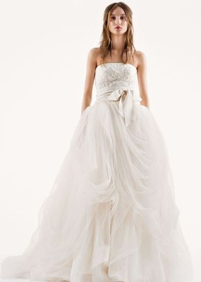 White by Vera Wang Style VW351077, David's Bridal