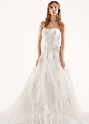 White by Vera Wang Style VW351195, David's Bridal