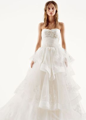 White by Vera Wang Style VW351197, David's Bridal