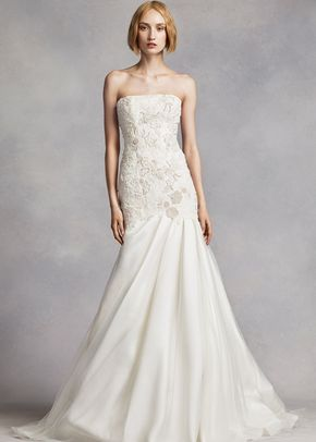 White by Vera Wang Style VW351275, David's Bridal