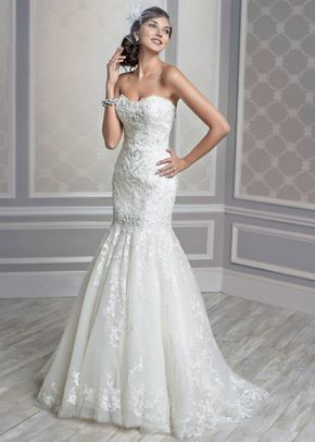 White by Vera Wang Style VW351044, David's Bridal