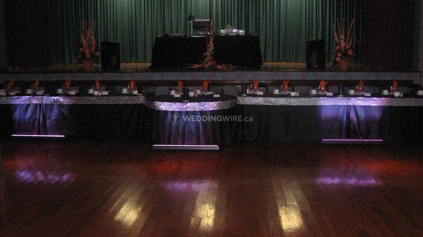 Head table up lighting