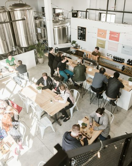 Our bright and open tap room