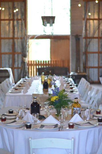 Golden, BC wedding reception, rustic