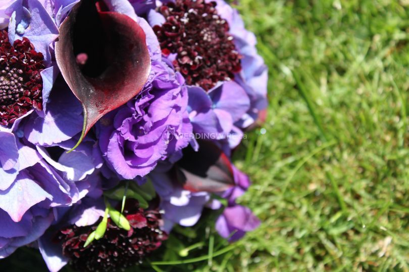 Calla and hydrangea bouquet