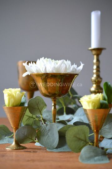 Table decor, vintage goblets