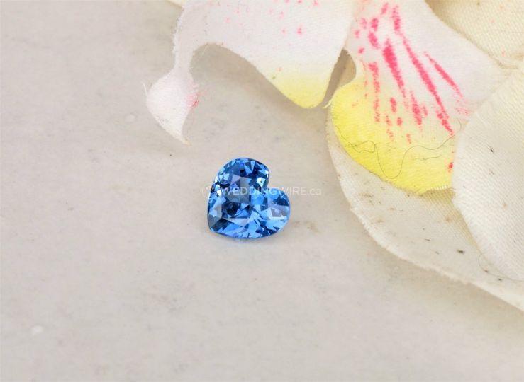 Blue Sapphire Heart Shape