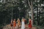 Bride & bridesmaids in forest