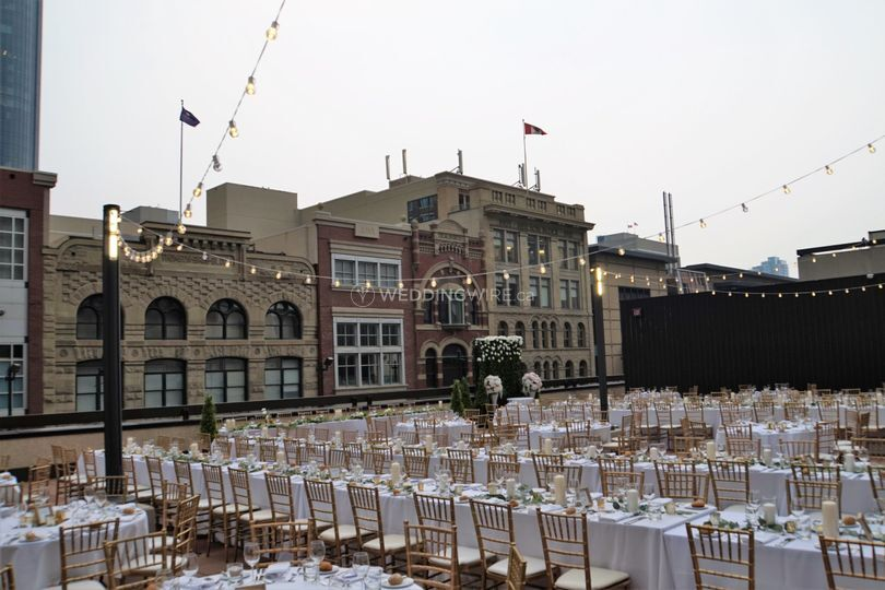 Rooftop Patio Wedding Dinner