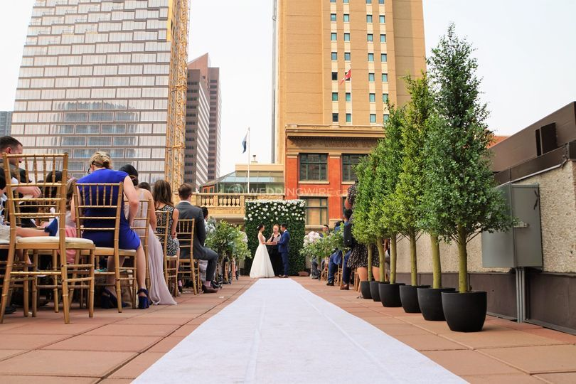 Rooftop Patio Wedding Ceremony