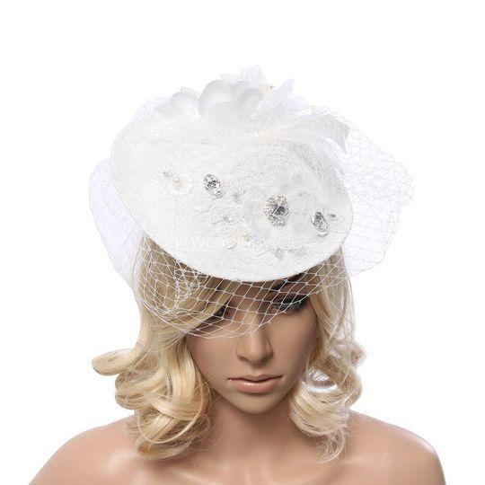 Elegant White Bridal Hairpiece