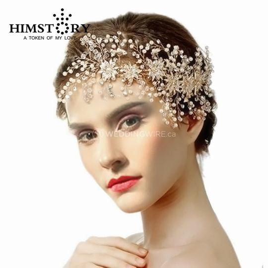 Golden Leaf Wedding Headband