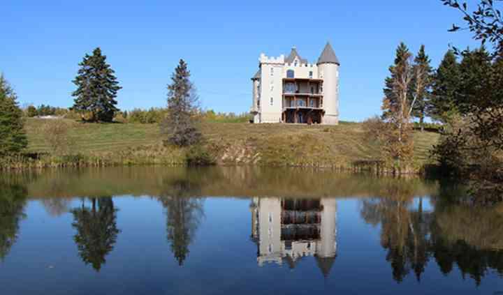 Chateau back yard pond