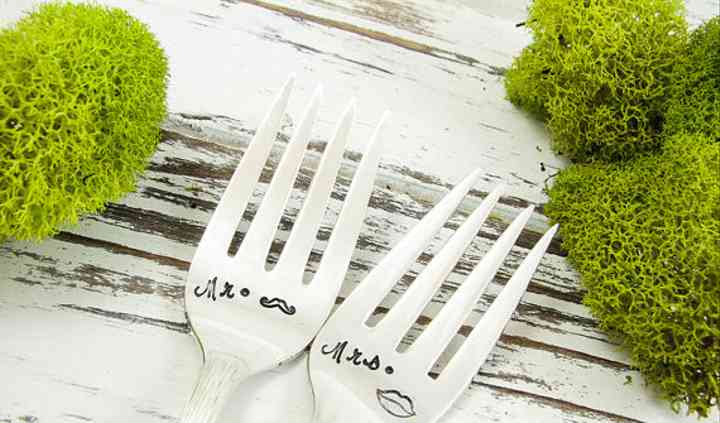 Mr. and Mrs. Cake Forks