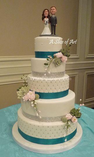 5 tier succulent cake
