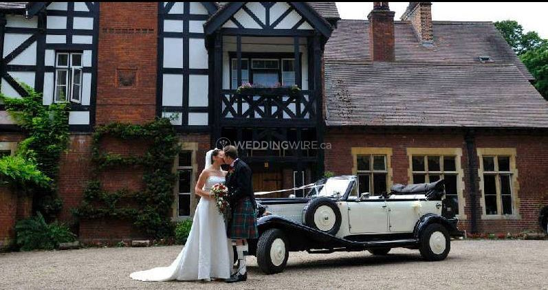 Vintage Car at stately home