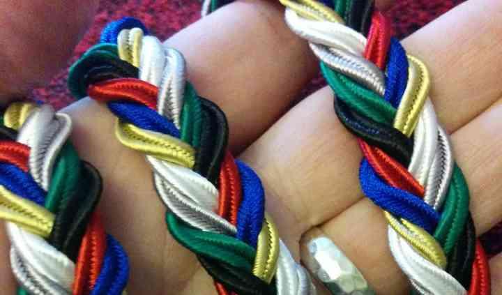 Handbraided handfasting cord