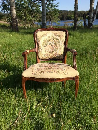 Vintage cross-stitch chair