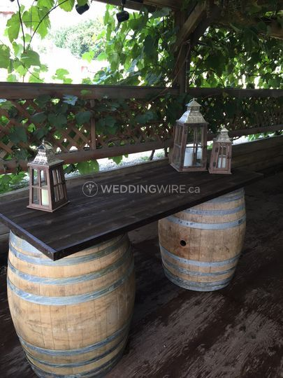 Rustic Wine Barrel Bar