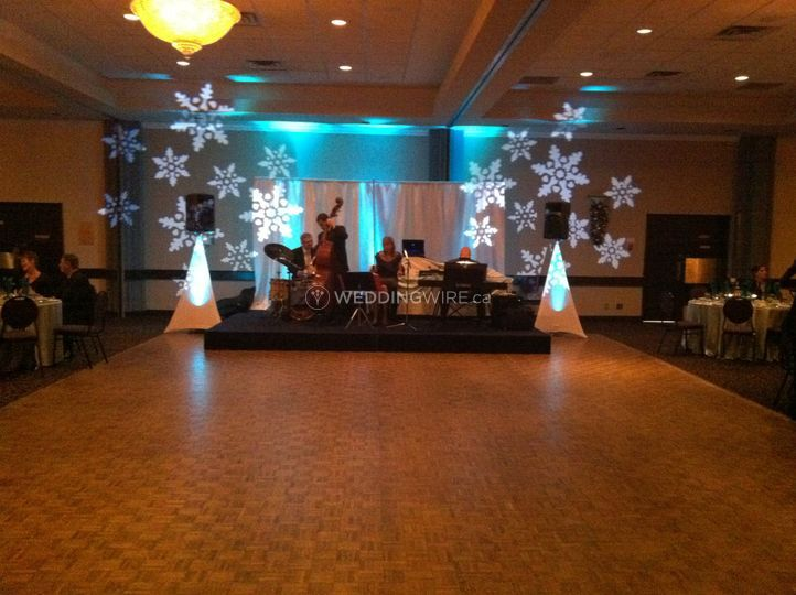 Winter-themed Venue Setup
