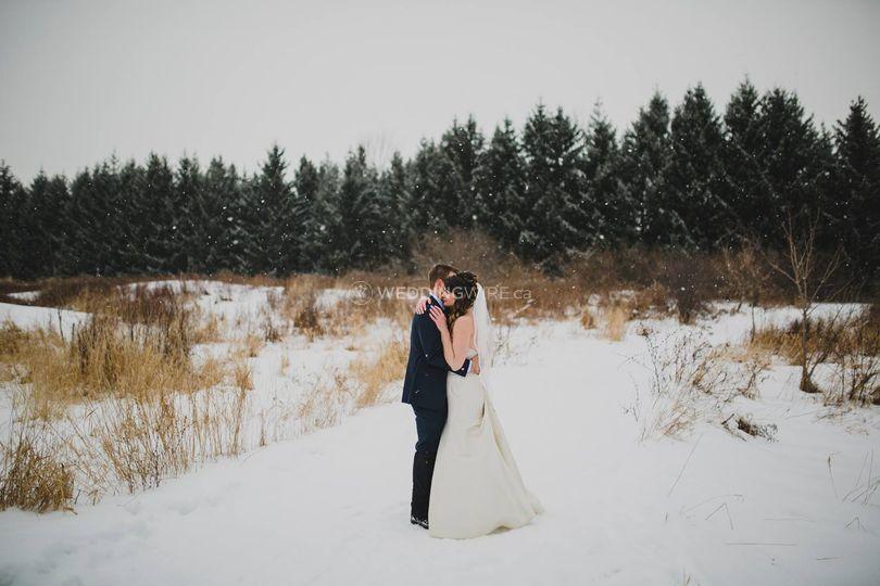 Woodbridge, Ontario wedding couple