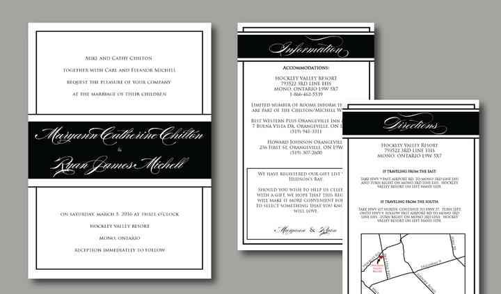 Wedding invitations ontario