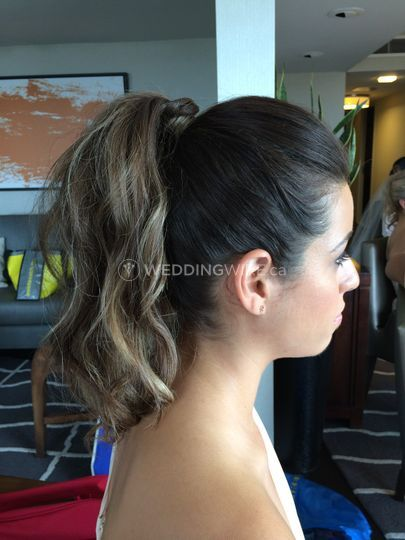 Algary, Alberta wedding hair
