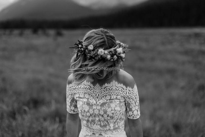 Calgary, Alberta wedding hair