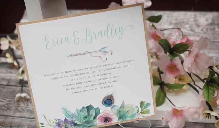 Boho Succulents Invitation