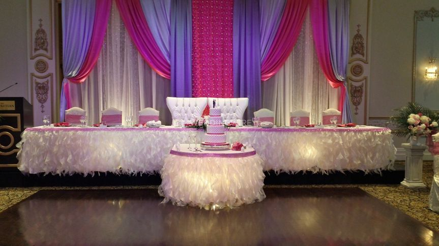 Pink and Purple headtable