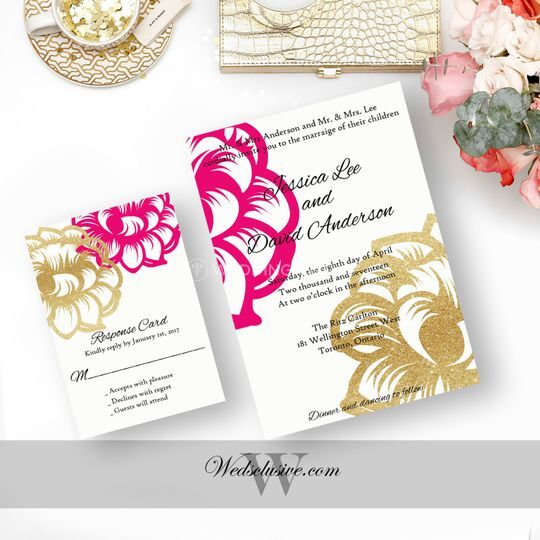 invitations - gold and fuchsia floral 1.jpg