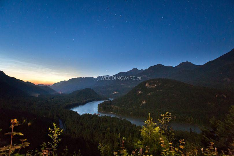 Hope, BC Night Landscape