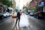 King street wedding kiss