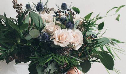 Burlap & Lace Florals 1