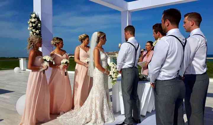 Chic Mexico Bridal Party