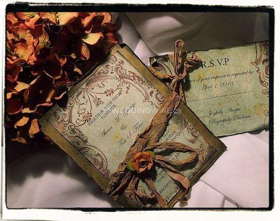 Tuscany Vintage Wedding invita