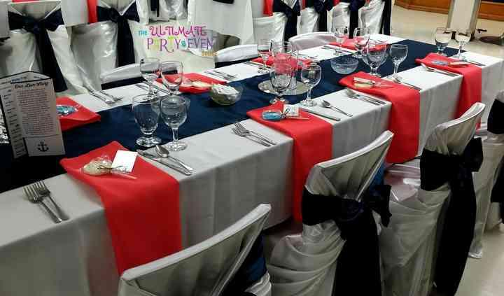 Coral & Navy Blue Wedding