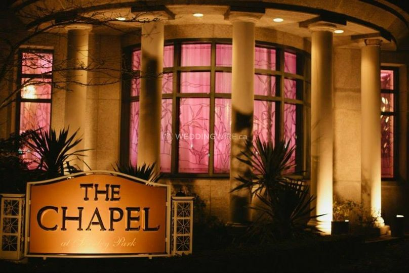 The chapel after sunset