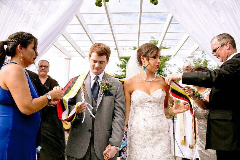 Wolastoqiyik shawl ceremony.