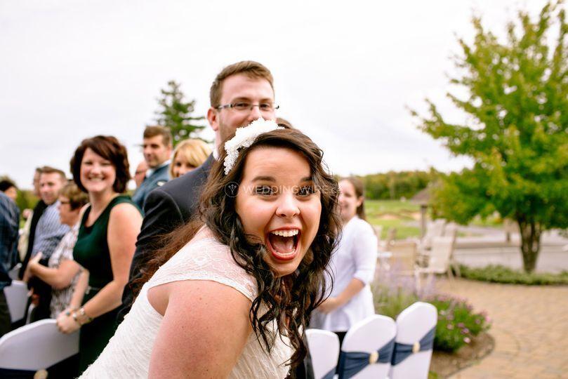 Happy bride.