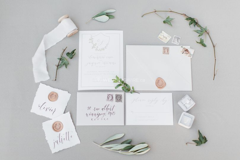 Parisian-inspired invitations