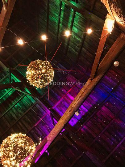 Classy reception room lighting