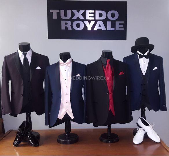 Textured tuxedo purchase
