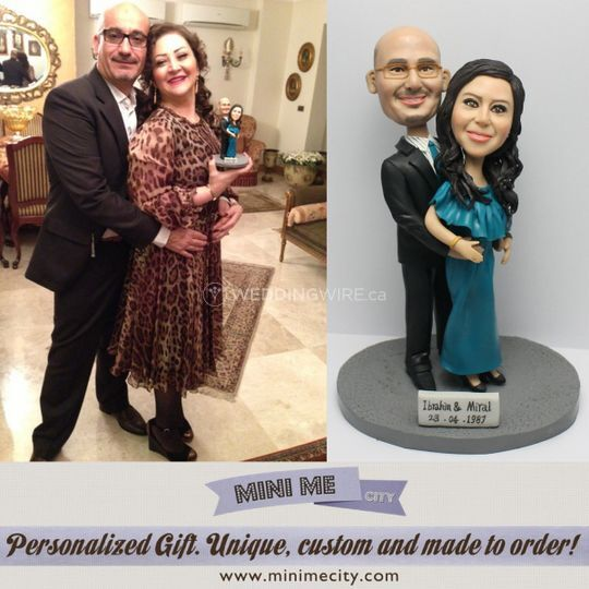 Mini Me City Custom Wedding Cake Topper