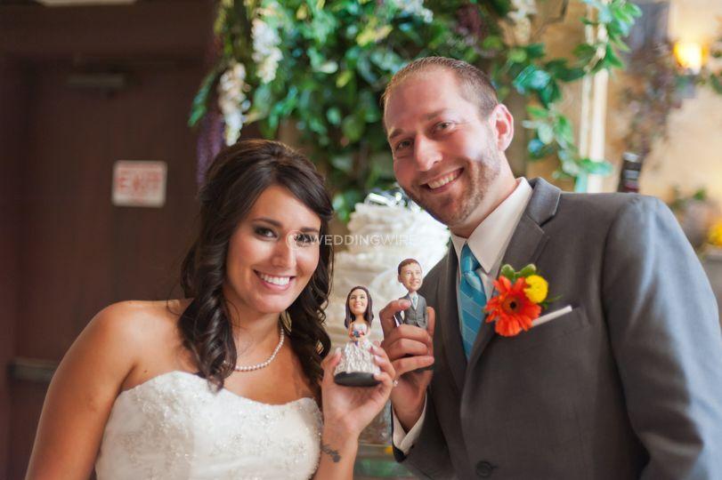 Mini Me City - Custom Wedding Cake Topper