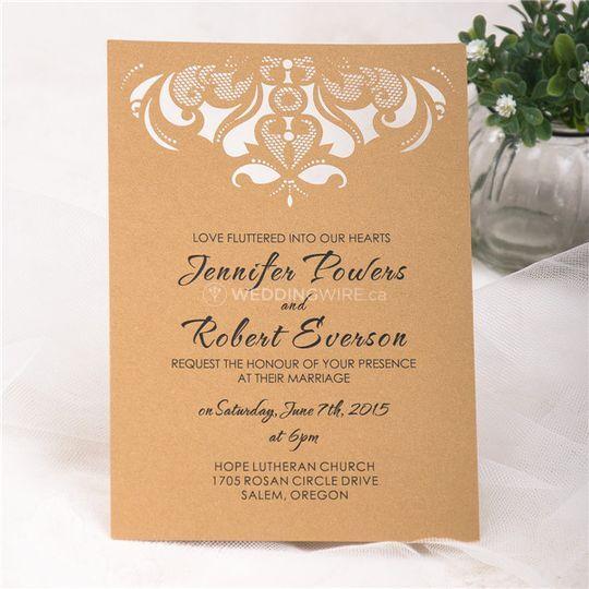 Chandelier Design Wedding Invi