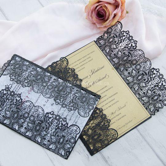 Lace Design Wedding Invitation